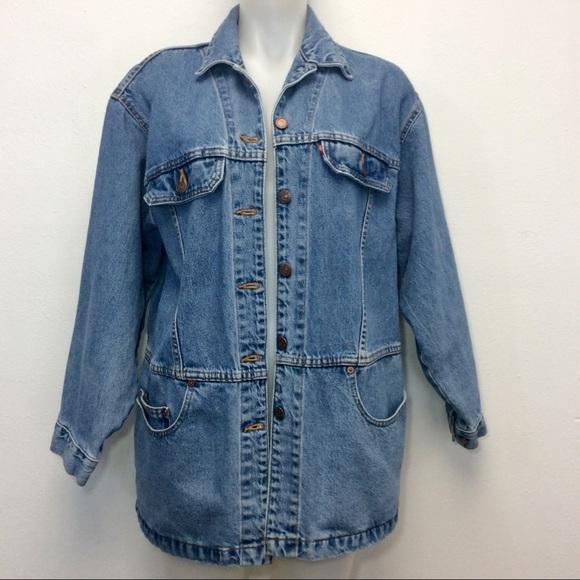Levi's Jackets & Blazers - Vintage Levis Denim Jean Jacket Oversized Coat